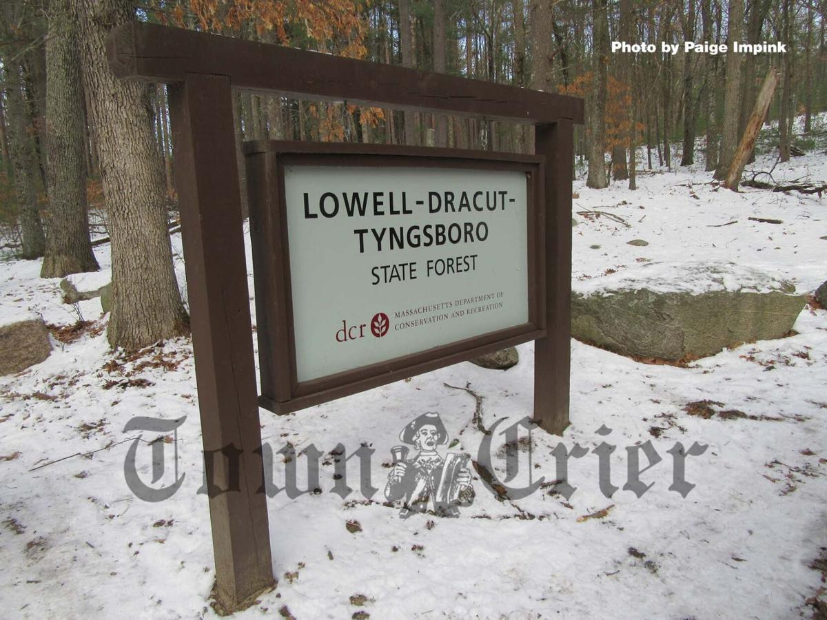 Lowell-Dracut-Tyngsboro (or Tyngsborough) State Forest entrance