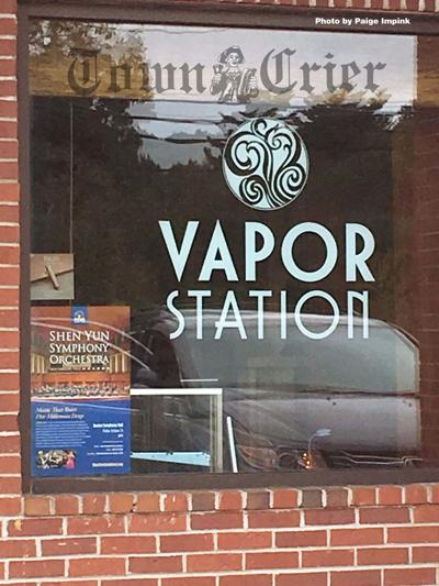 A sign at the Vapor Station on Route 38 in Tewksbury