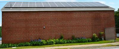 Solar panels on DPW building