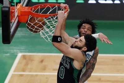 APTOPIX Hornets Celtics Basketball