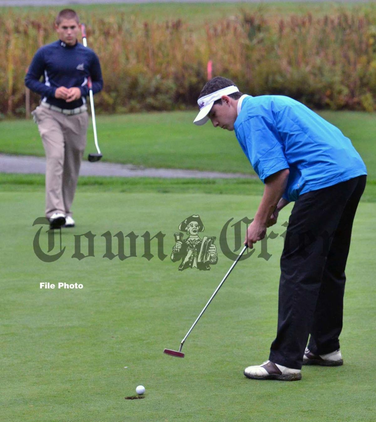 Derek Petti while on the TMHS Golf team