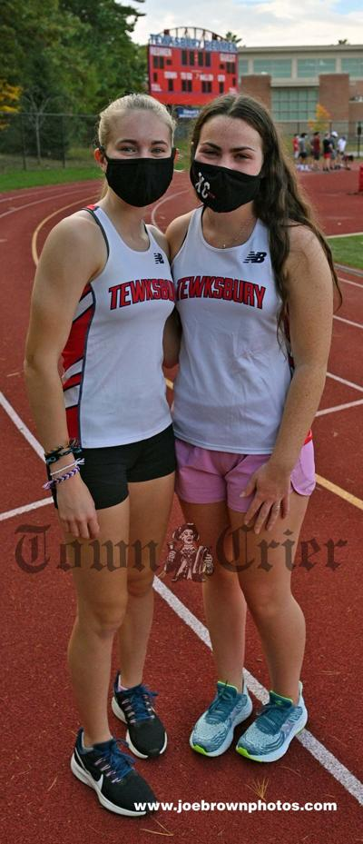 TMHS Girls Cross-Country team captains, Makayla Page, left, and Erin Sands