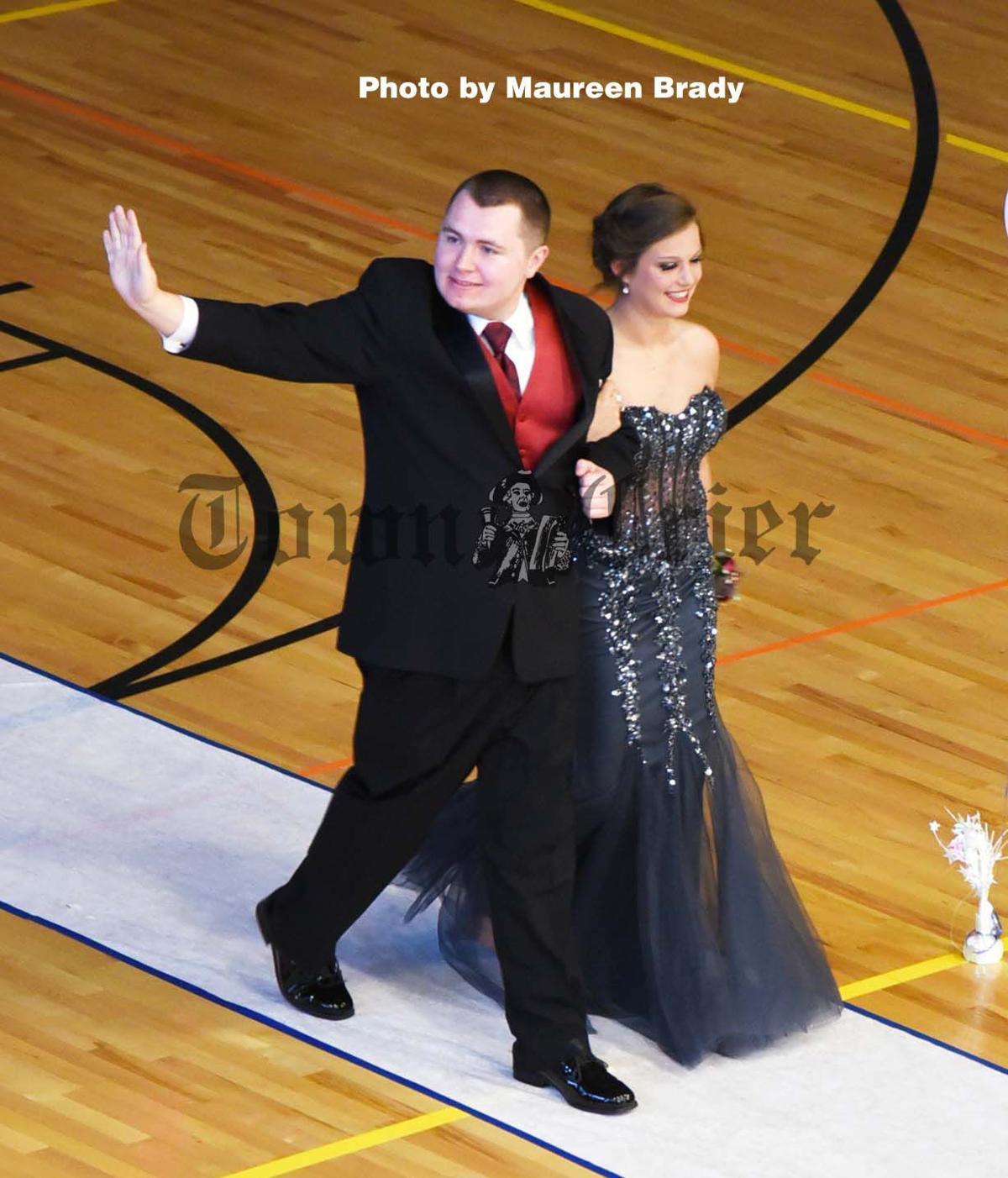 Thomas Dunnett and Kaila Bavin walk the runway