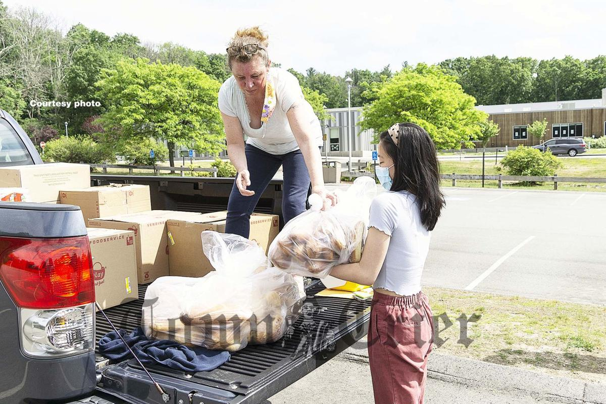 Nicole Jo delivers rescued food to the Merrimack Valley YMCA