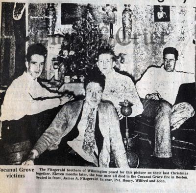 The Fitzgerald brothers gathered for a Christmas photo in 1941