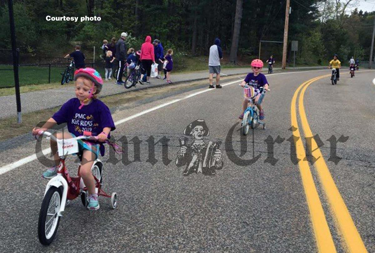 PMC participants Grace, Ella and others rode their bikes to help fight cancer