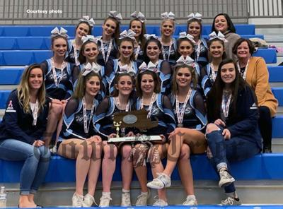 The WHS Varsity Cheerleading team