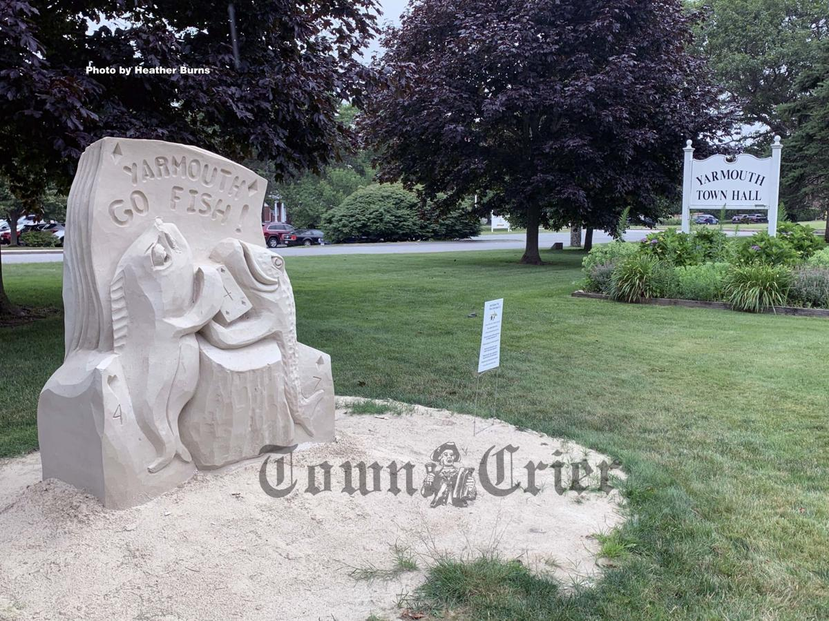 Sand sculpture on Main Street