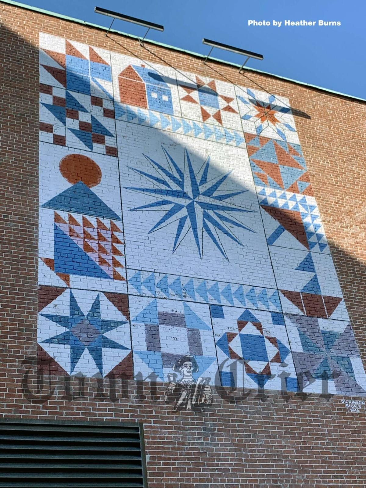 Painted quilt on museum