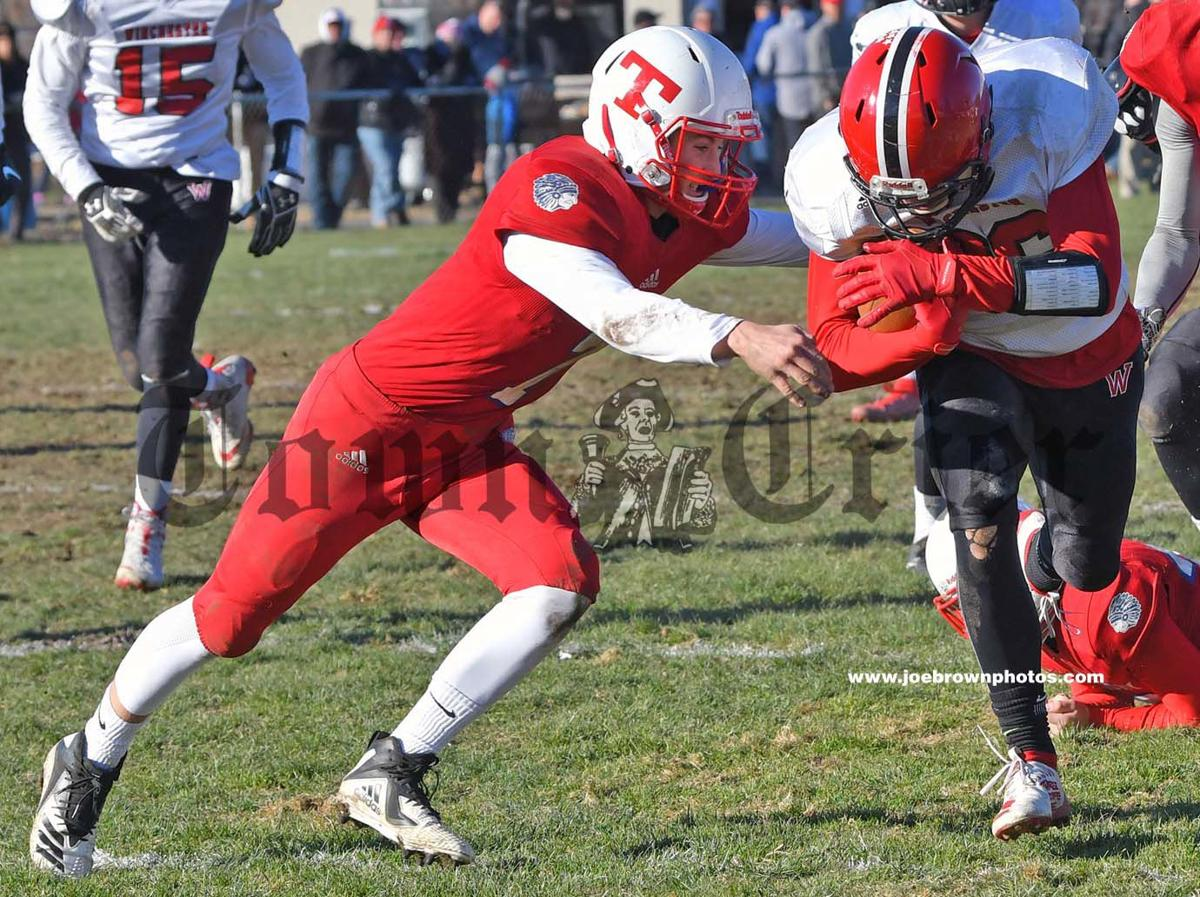 Nolan Timmons looks to make the tackle