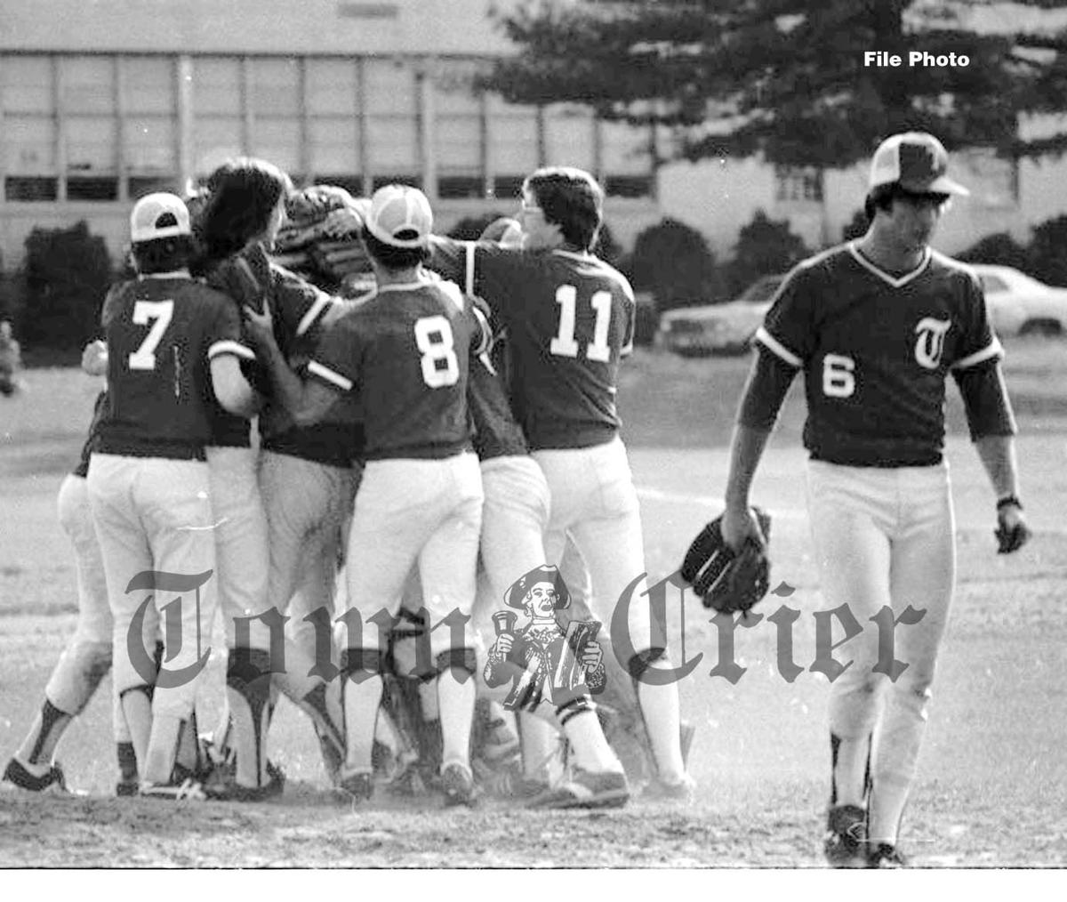 1980 TMHS Baseball team celebrates qualifiyng for state tournament
