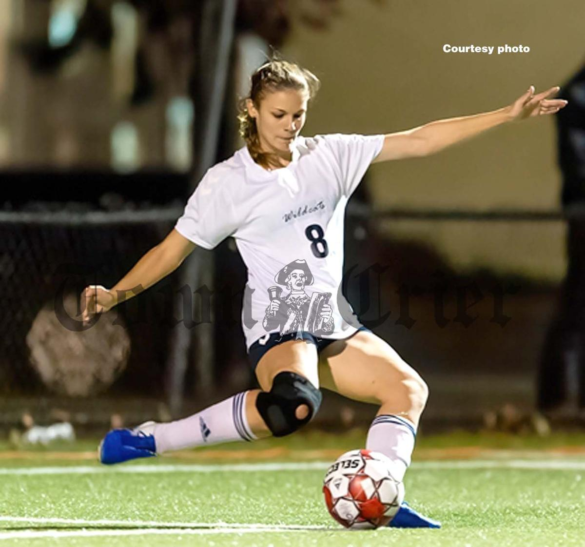 WHS senior Audrey Curdo is one of the three captains on this year's Girls Soccer team