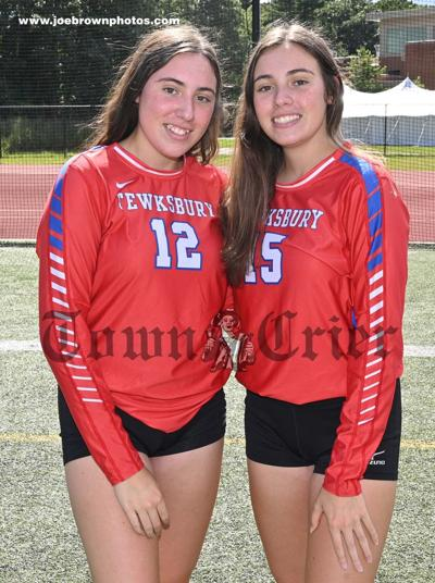Captains of the 2021 TMHS Volleyball team: Twins Madison (left) and Kaitlin Cueva