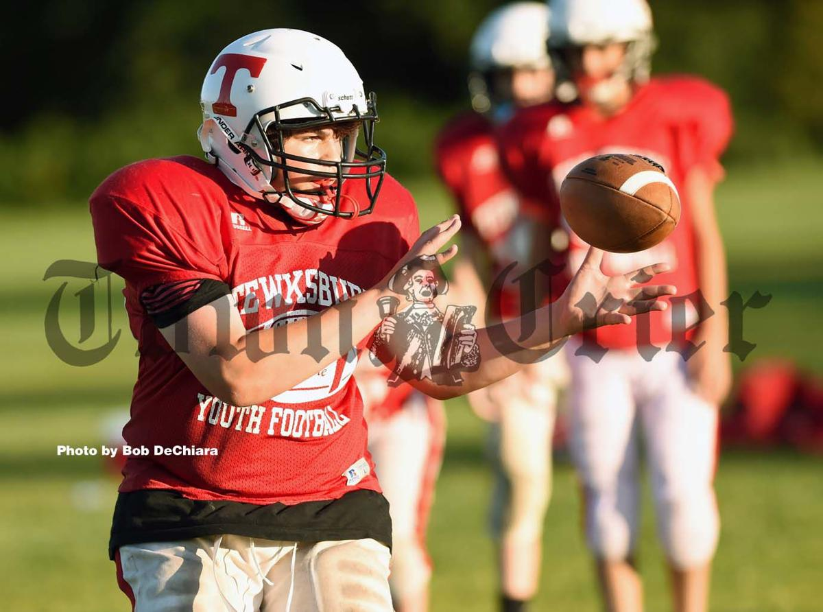 A Tewksbury Youth Football player