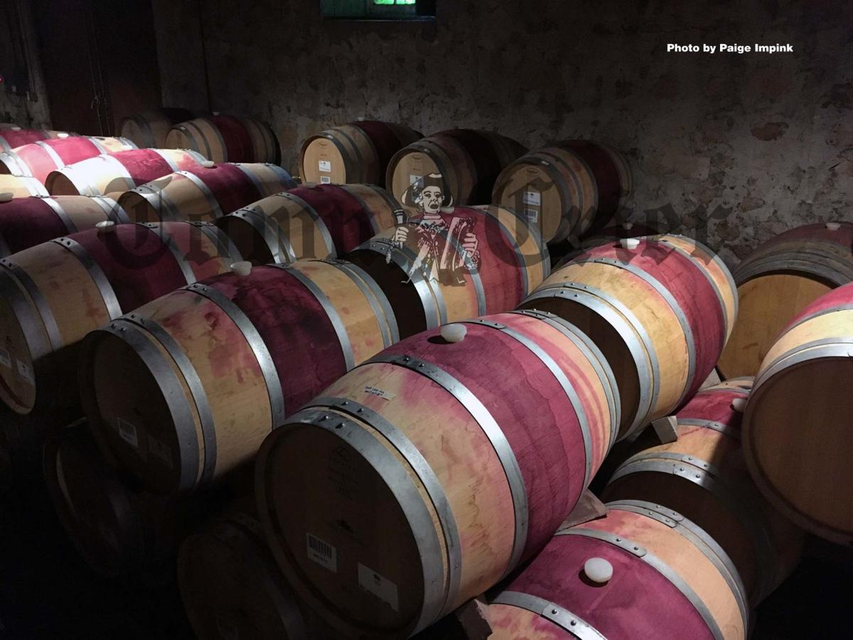Barrels of wine at the Hess Collection