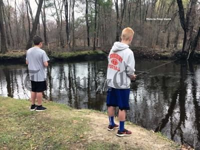 Residents enjoy fishing at The Shawsheen Launc