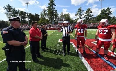 The ceremonial coin flip