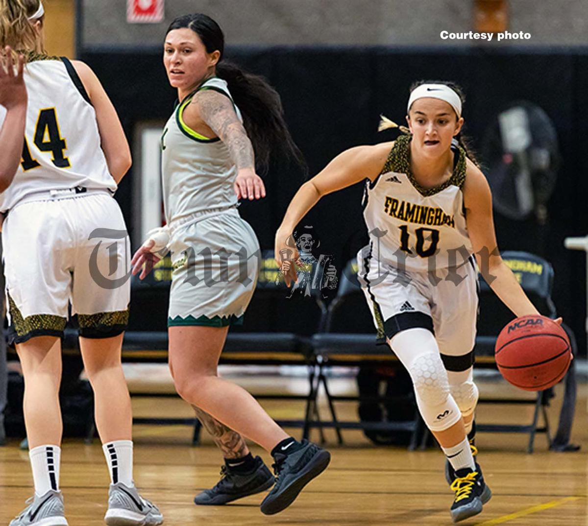 Tewksbury resident Emily Velozo, senior guard at Framingham State University
