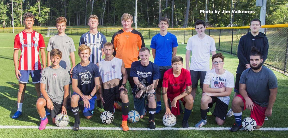 Wilmington members of Shawsheen Tech Boys Varsity Soccer team