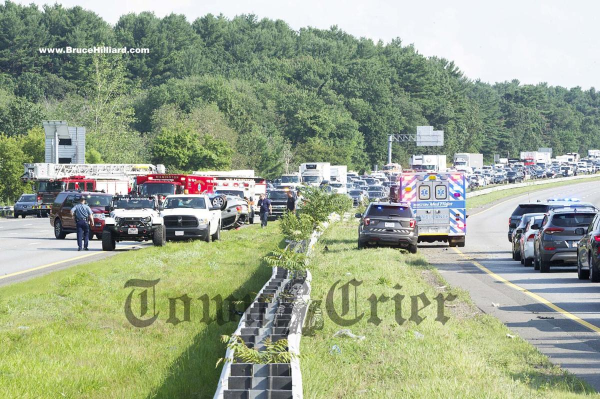 The accident closed both lanes of traffic on I-93