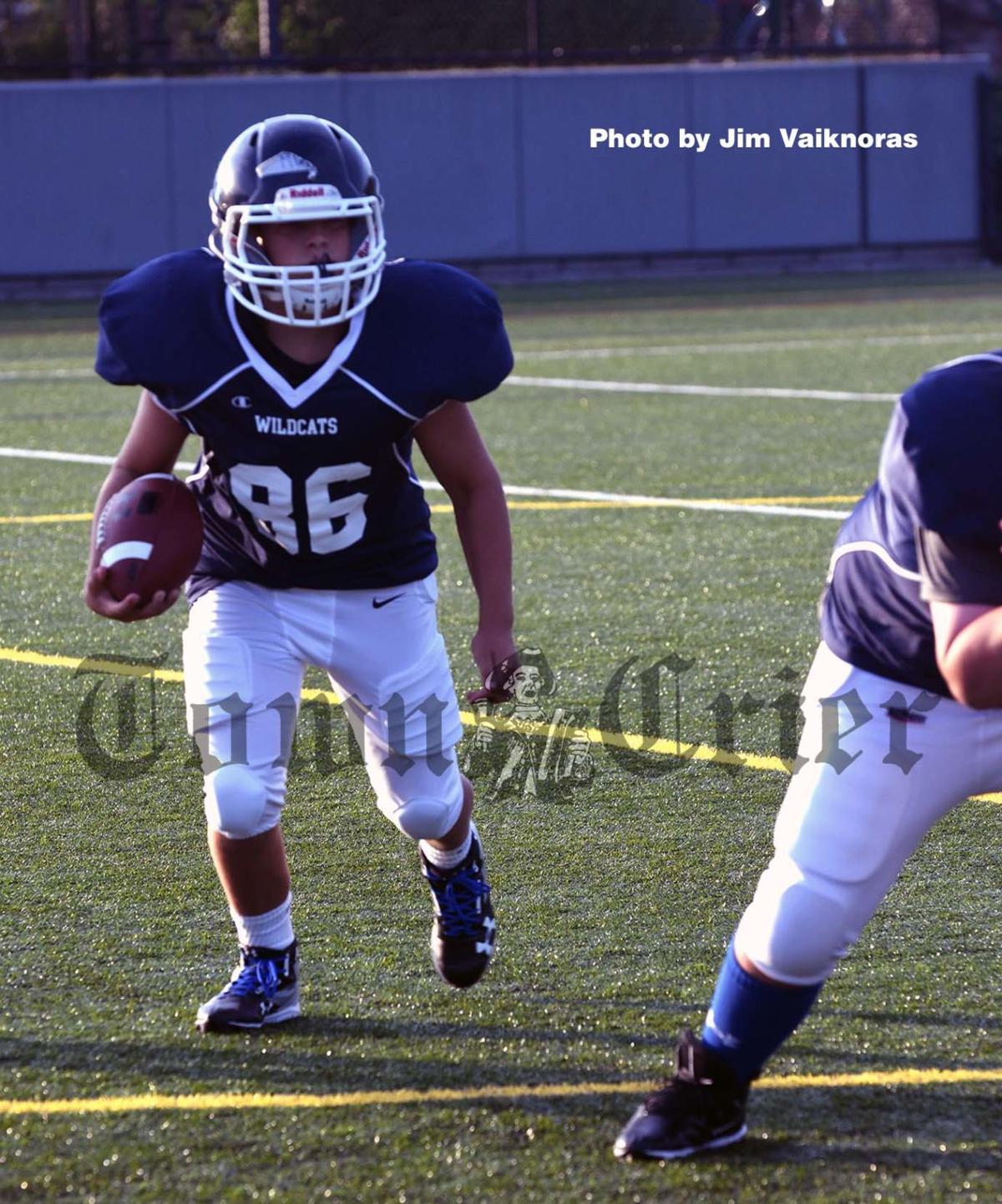 Middle School Football player Ryan Murphy