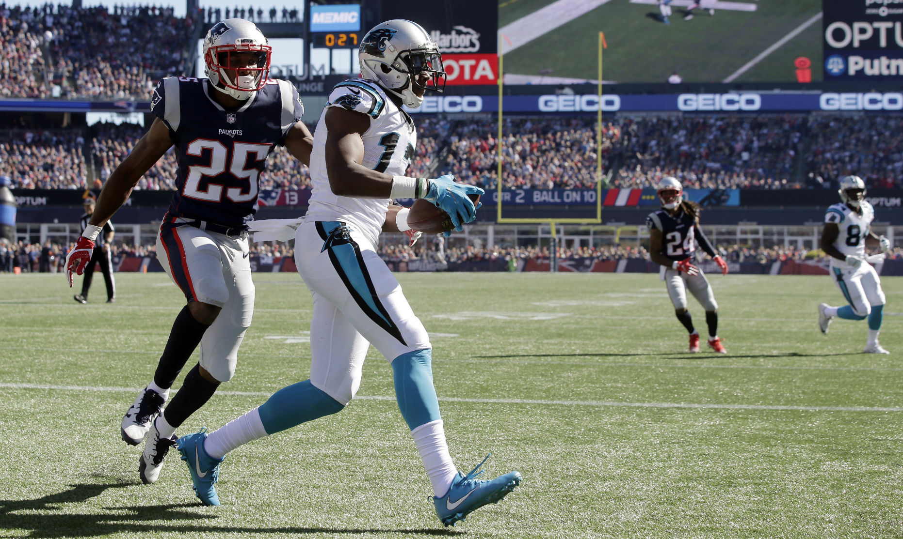 Panthers struggling for offense as they face Patriots today