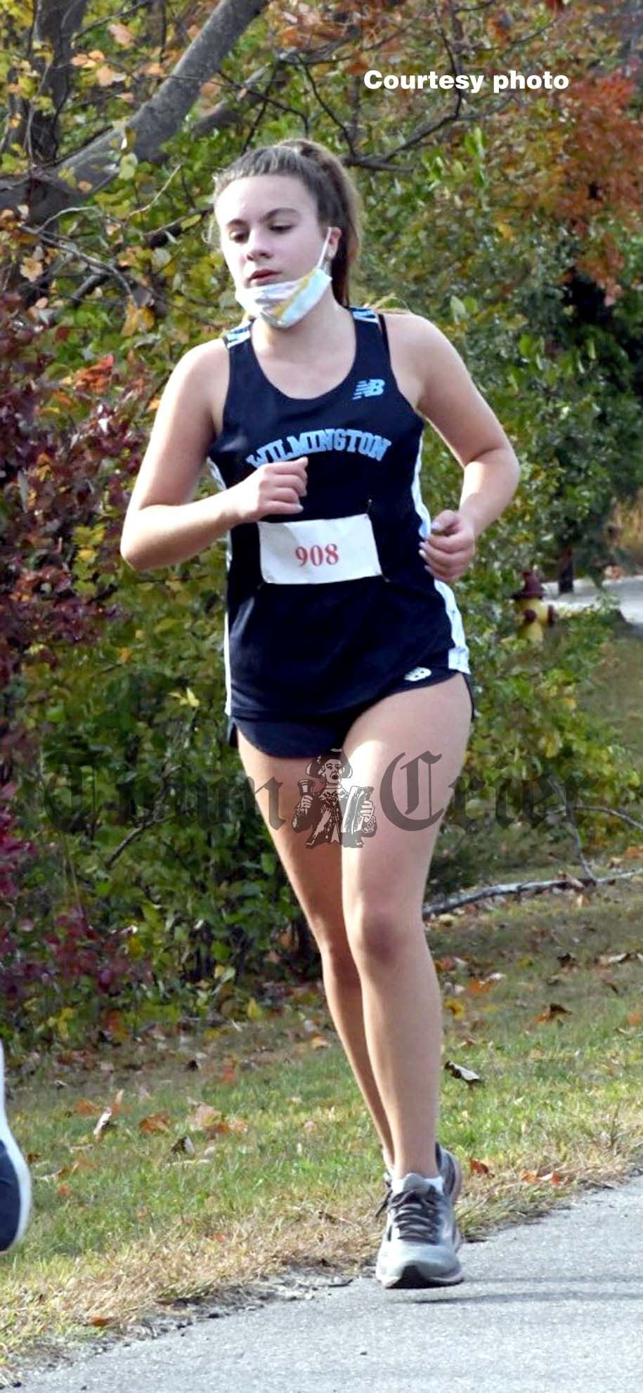 Ellianna Chrinopoulo in her first cross-country meet