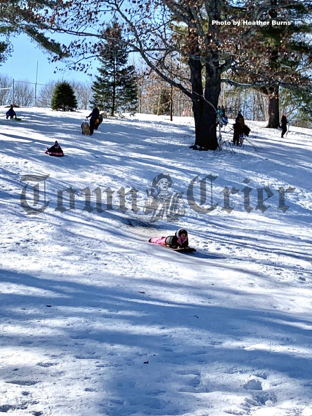 Sledding at Shed Park in Lowell