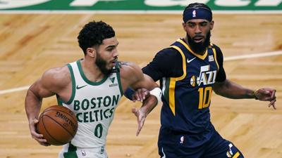 Jazz Celtics Basketball