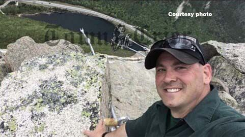 General Manager John DeVivo at the summit of Cannon Mountain
