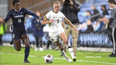 Olivia Wingate for the Notre Dame University women's soccer team