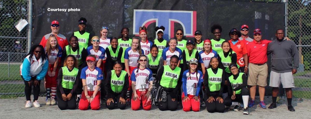 Aruba and the Tewksbury Under 14 Softball team