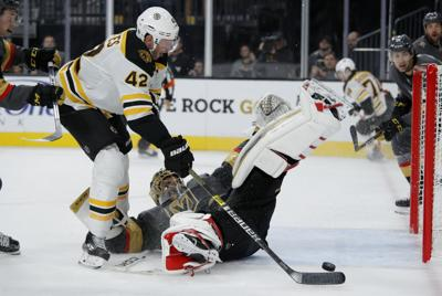 APTOPIX Bruins Golden Knights Hockey