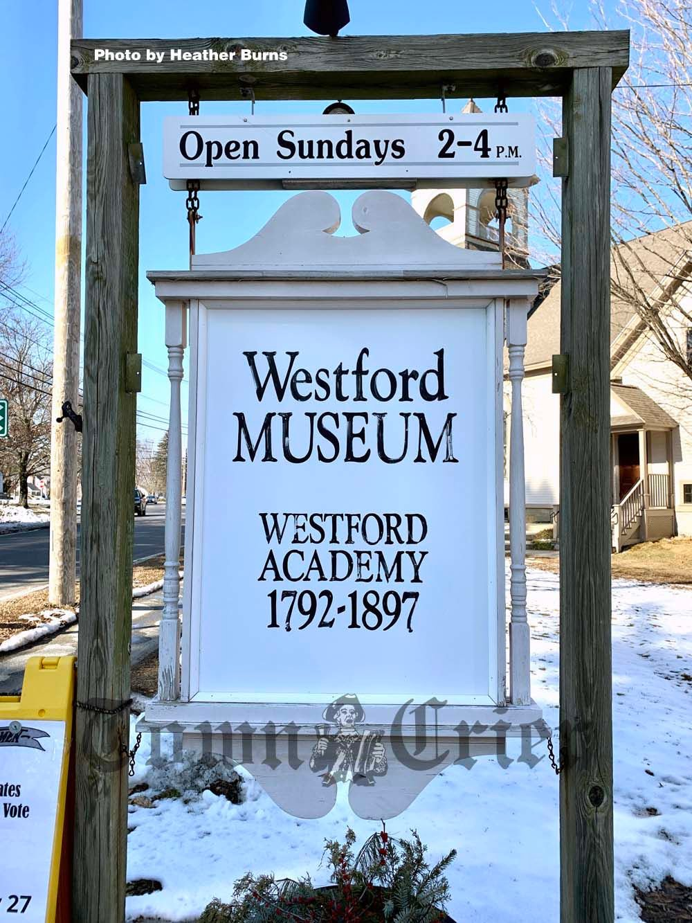 Westford Historical Society and Museum sign