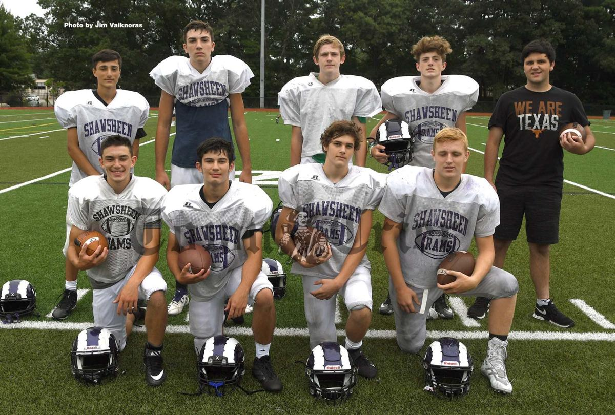 Tewksbury members of Shawsheen Tech Varsity Football team