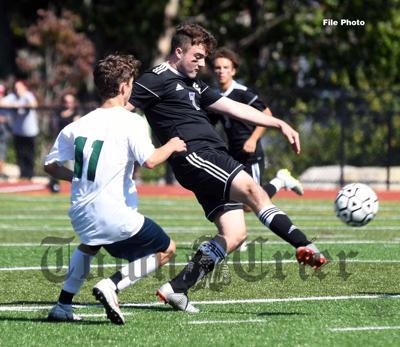 Shawsheen's Joe Hansen clears the ball