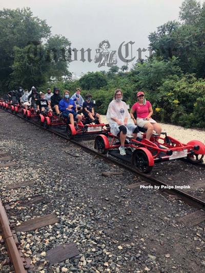 Riders get ready to experience the rails in Portsmouth, Rhode Island