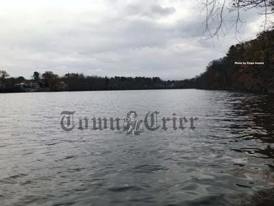 Picture of the Merrimack River near the Tewksbury water treatment plant