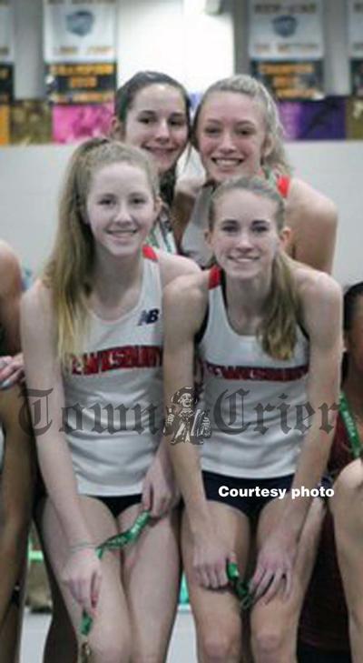 The TMHS Girls Track Sprint Medley Relay team