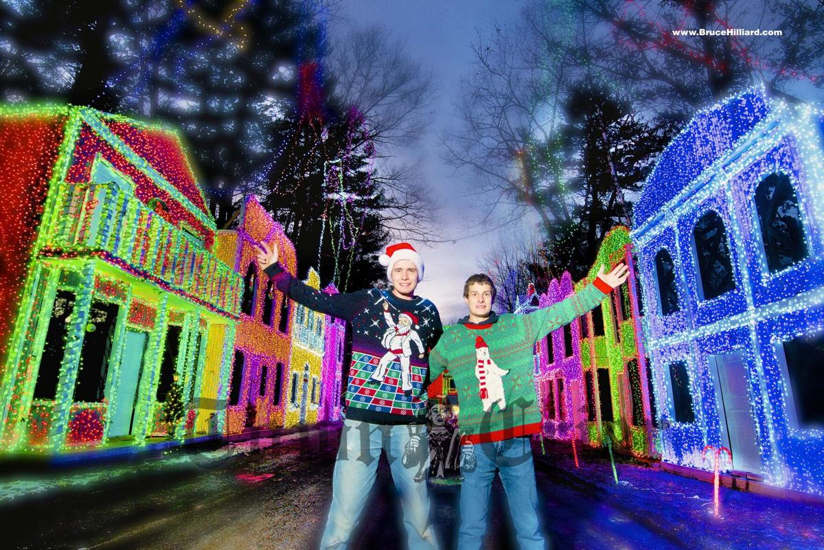 Wilmington's Charles and Jonas Fiore in their Christmas display