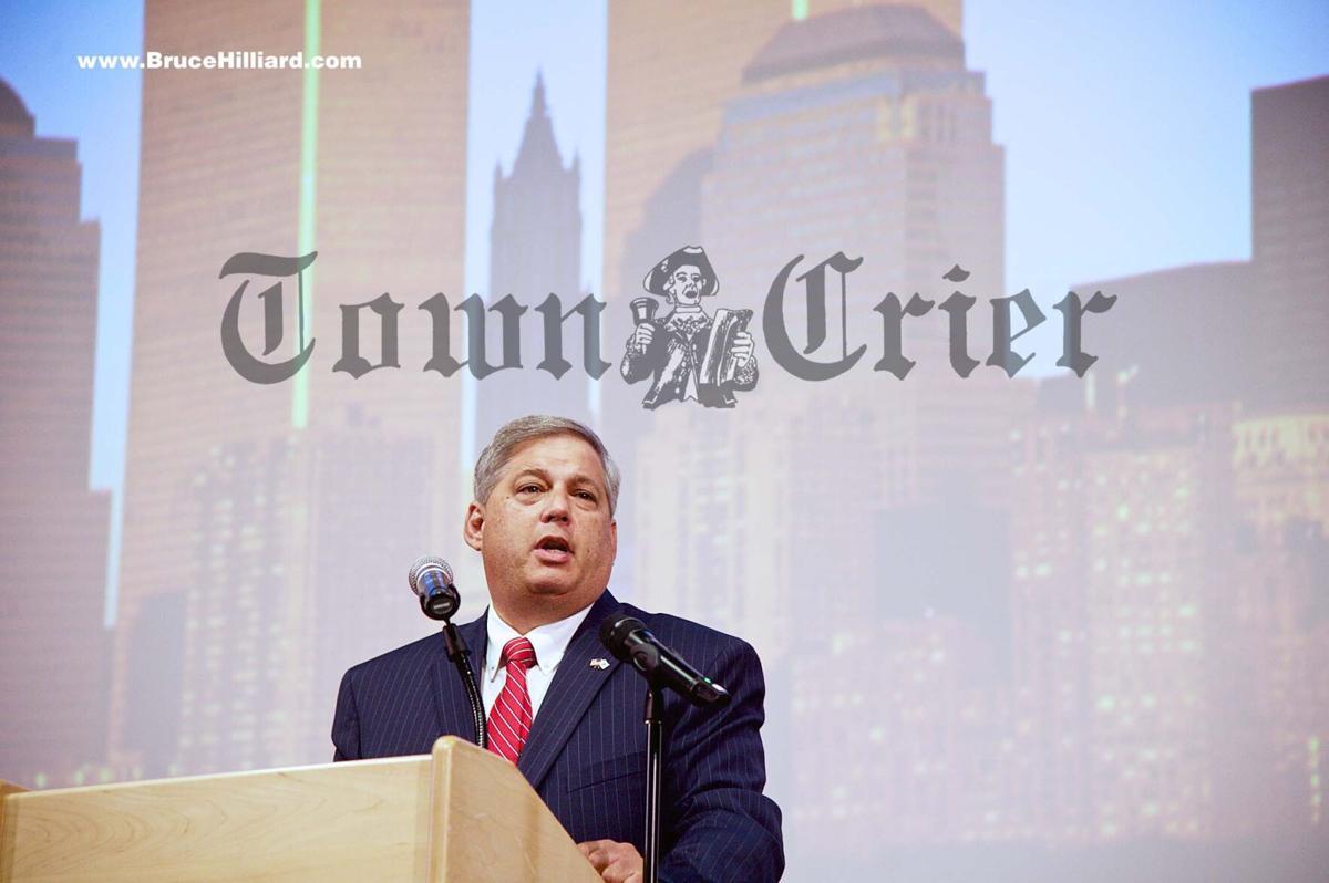 State Senator Bruce Tarr speaks during the ceremony