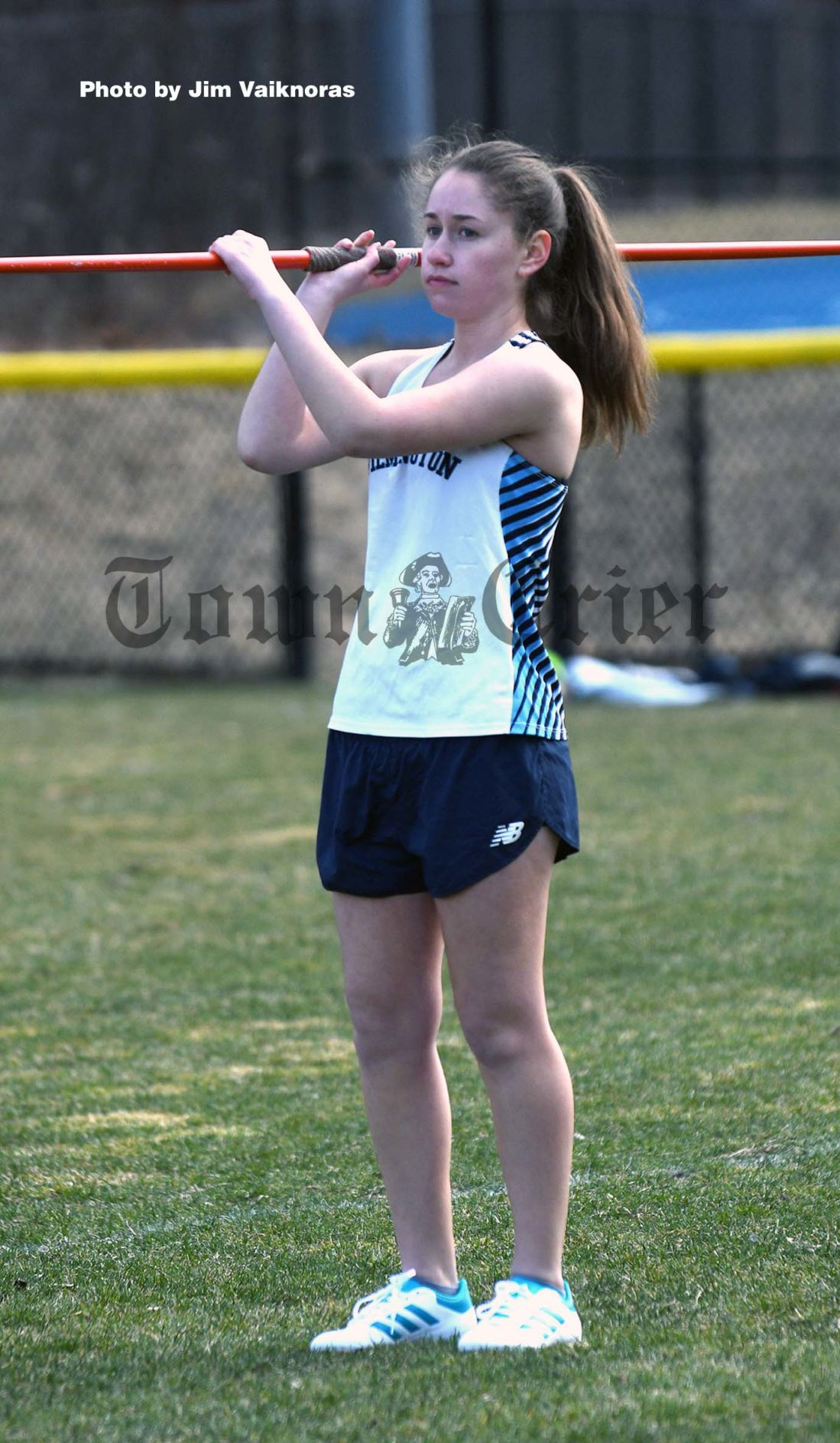 Wilmington's Gabby Villalta waits to throw the javelin
