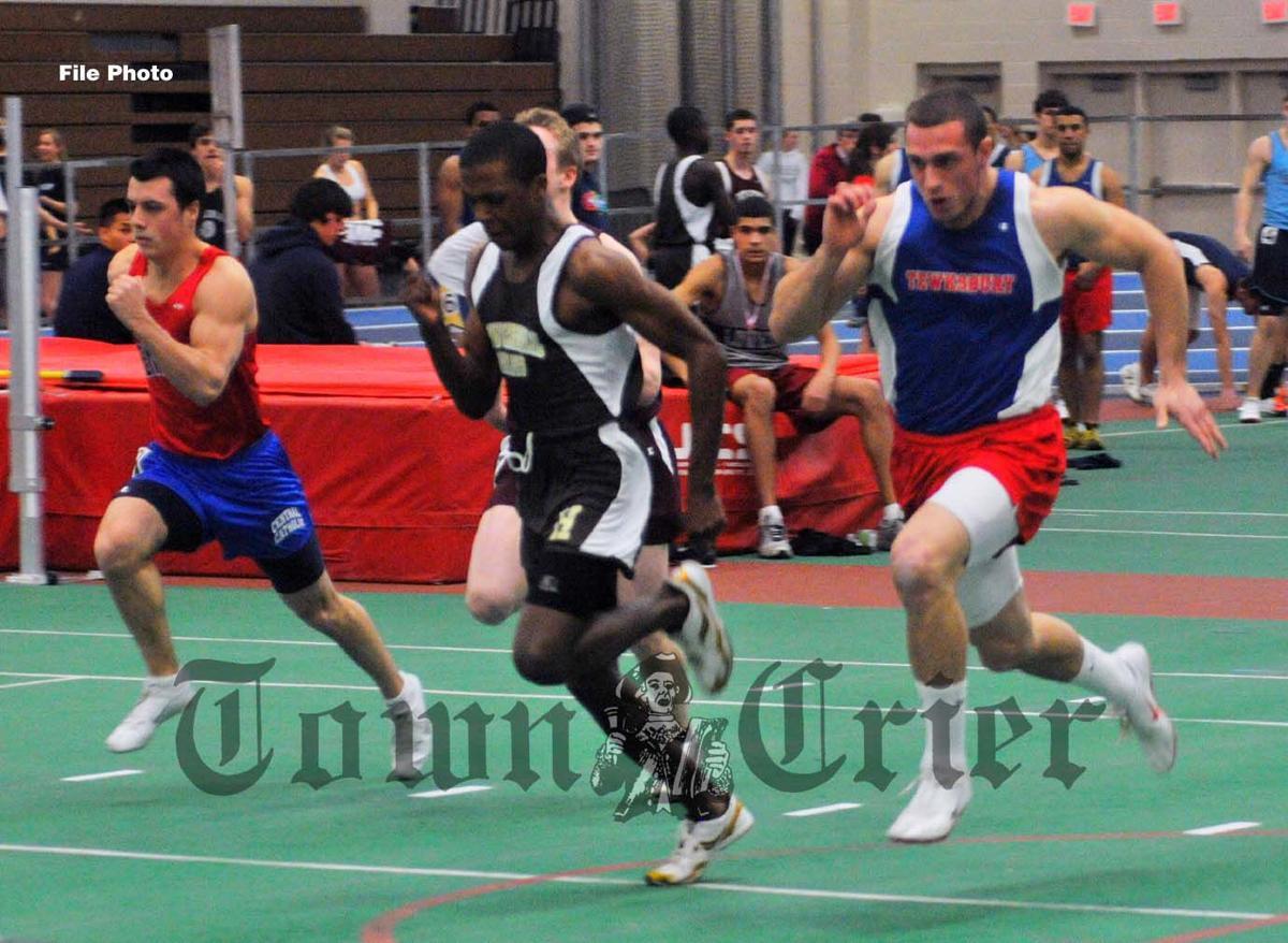 Anthony Arcari, far right, sprinter for TMHS track