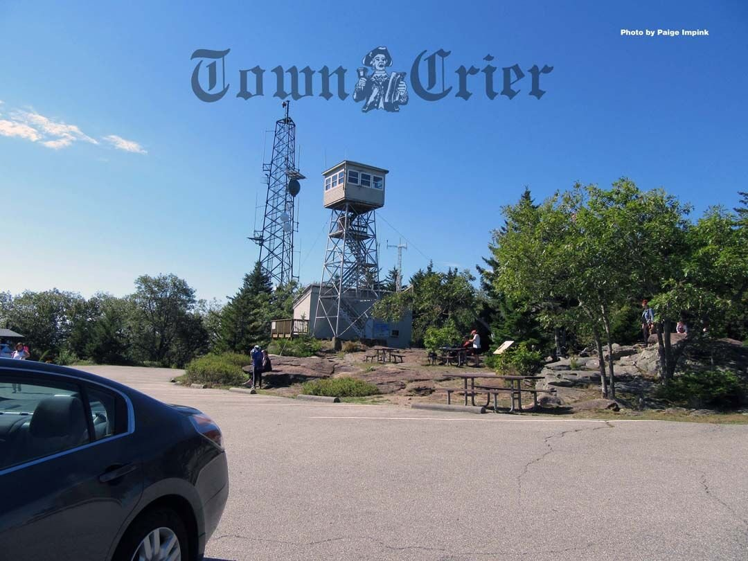 The fire tower at the top of Pack Monadnock