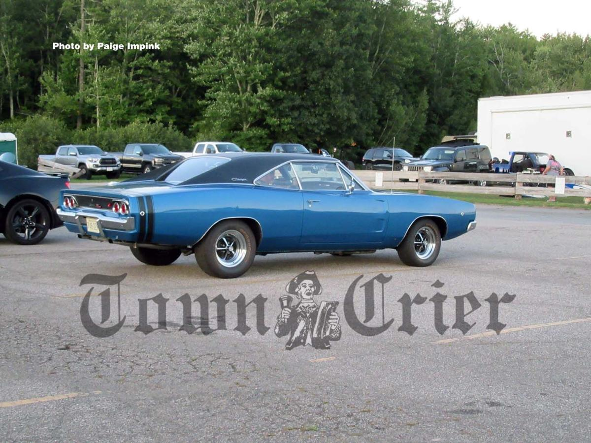 A vintage Dodge Charger at the New England Dragway