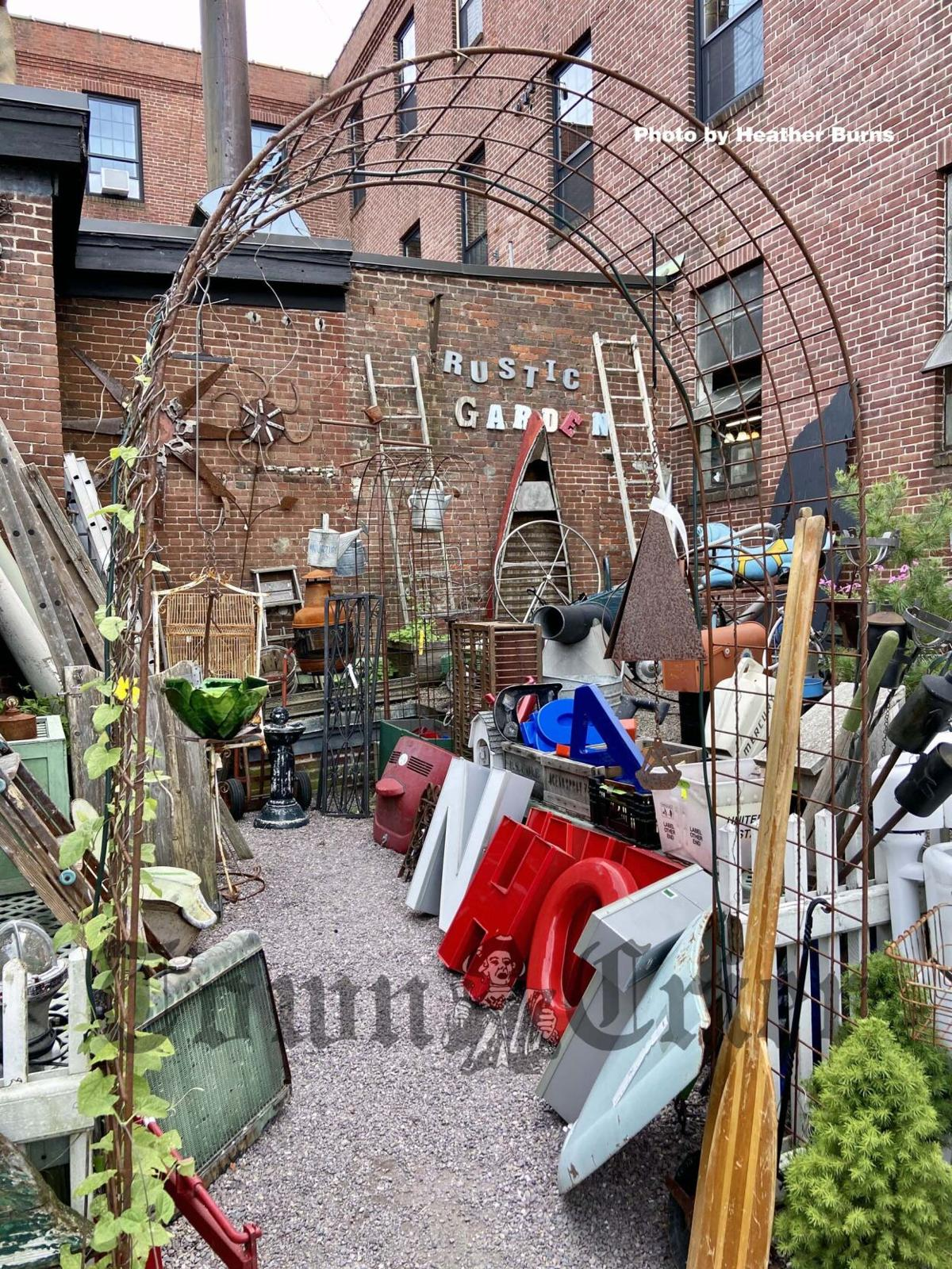Outside treasures at the Winsmith Mill Market
