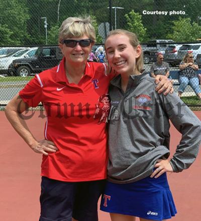 Coach Mary MacDonald and senior Elizabeth Ezekiel