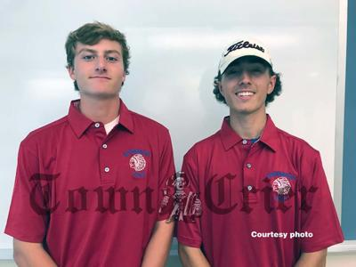 TMHS Golf Team captains Garrett Kingston and Anthony Pecci