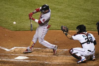 Red Sox Marlins Baseball