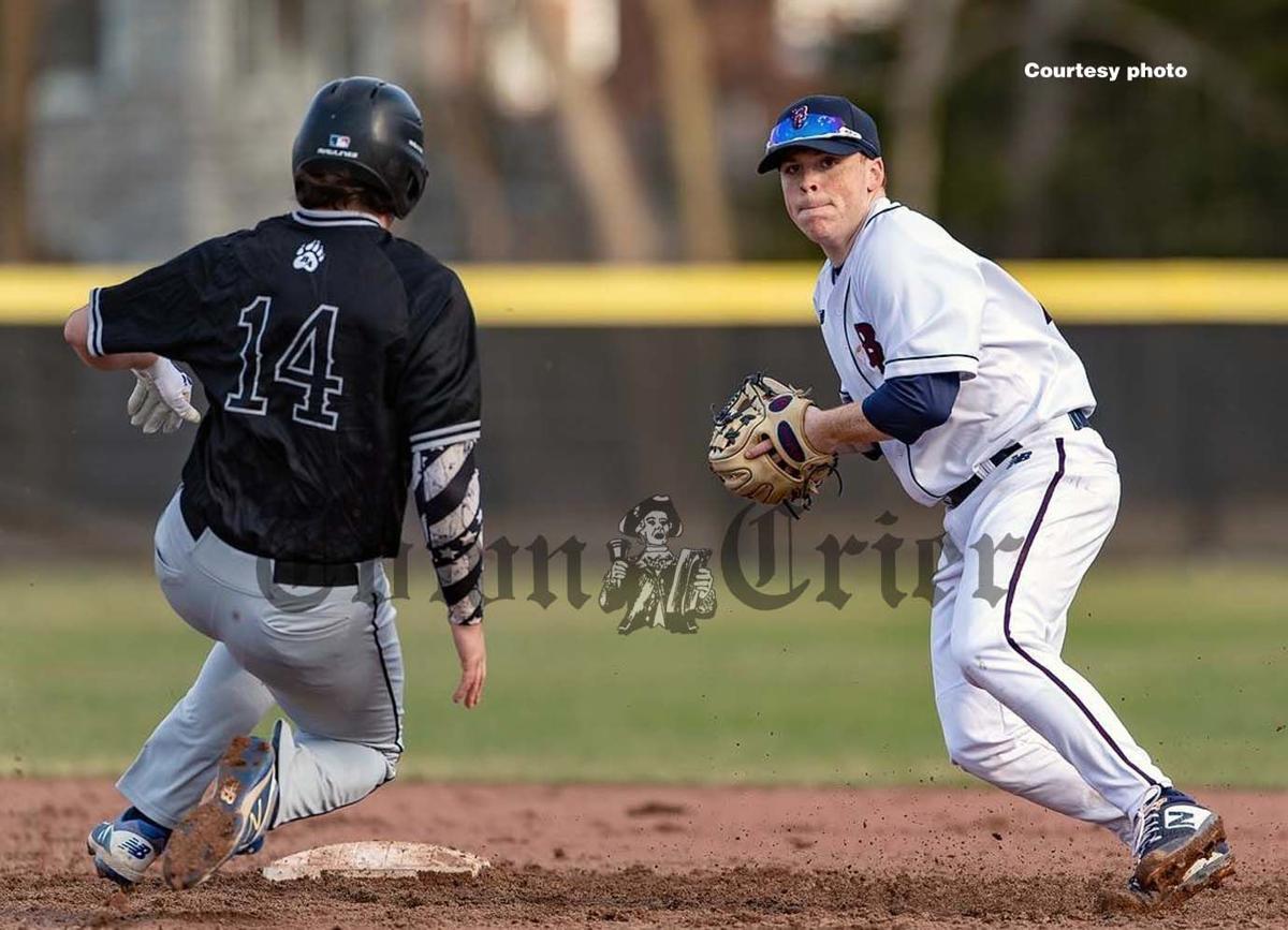 Wilmington resident Richie McNamara tries to turn a double play